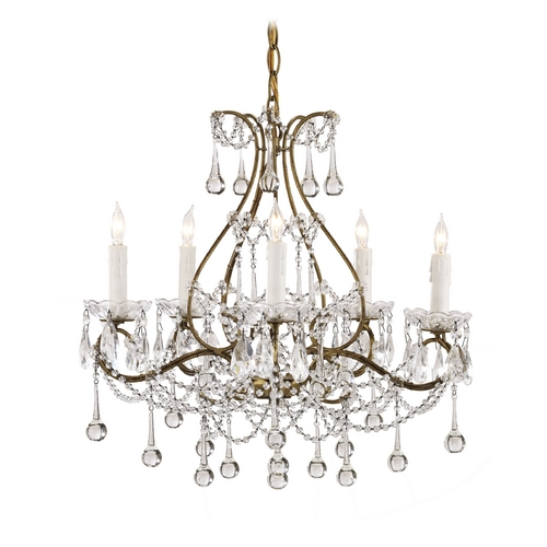 Currey and Company Lighting Mini-Chandelier in Smoke Gold Finish 9008