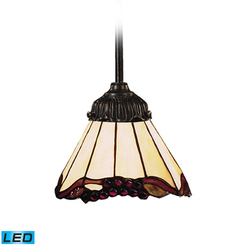 Elk Lighting Elk Lighting Mix-N-Match Tiffany Bronze LED Mini-Pendant Light with Scalloped Shade 078-TB-03-LED