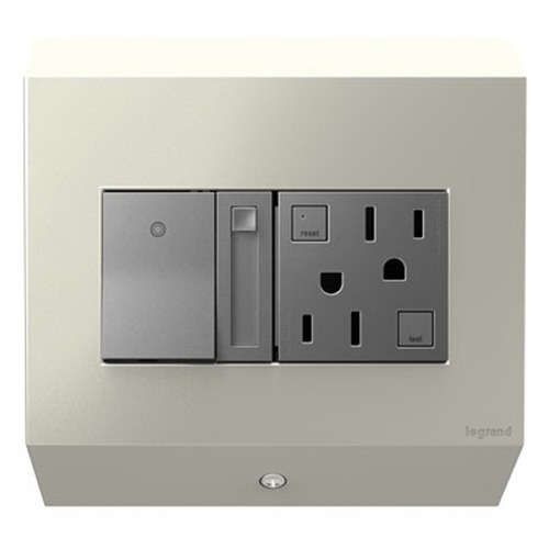 Legrand Adorne Legrand Adorne Control Box with Paddle Dimmer Switch and 15 Amps GFCI APCB2TM2