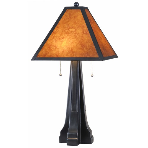 Kenroy Home Lighting Kenroy Home Lighting Miles Oil Rubbed Bronze Table Lamp with Square Shade 32413ORB