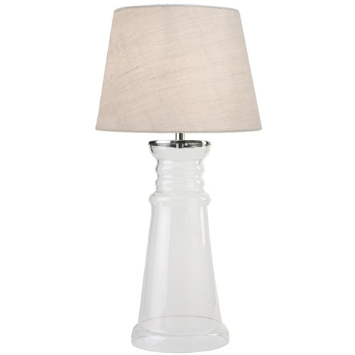 Kenroy Home Lighting Kenroy Home Lighting Epic Clear Glass Table Lamp with Empire Shade 32440CLR
