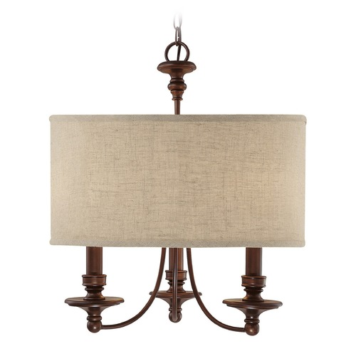 Capital Lighting Capital Lighting Midtown Burnished Bronze Pendant Light with Drum Shade 3913BB-452