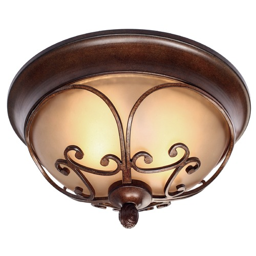 Golden Lighting Golden Lighting Loretto Russet Bronze Flushmount Light 4002-FM RSB