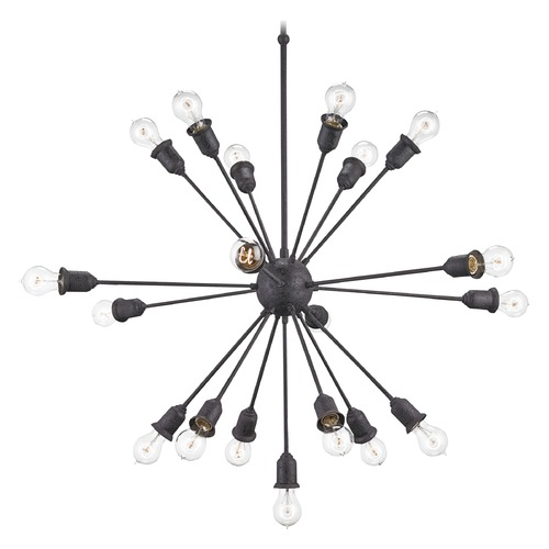 Currey and Company Lighting Currey and Company Dandelion Black Pendant Light 9853