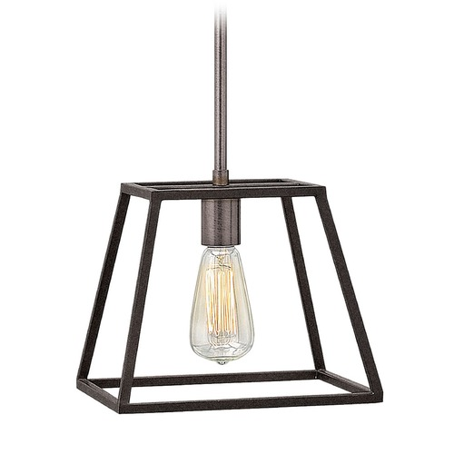 Hinkley Lighting Hinkley Lighting Fulton Aged Zinc Mini-Pendant Light 3337DZ
