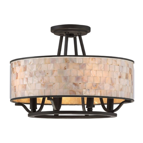 Quoizel Lighting Quoizel Lighting Aristocrat Palladian Bronze Semi-Flushmount Light AS1716PN