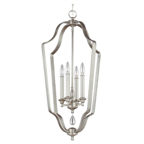 Feiss Lighting Feiss Lighting Dewitt Sunrise Silver Pendant Light F3072/4SRS