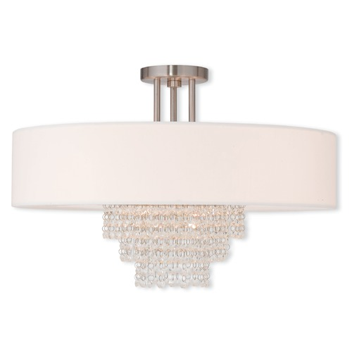 Livex Lighting Livex Lighting Carlisle Brushed Nickel Semi-Flushmount Light 51029-91