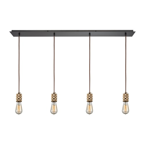 Elk Lighting Elk Lighting Camley Polished Gold, Oil Rubbed Bronze Multi-Light Pendant 14391/4LP