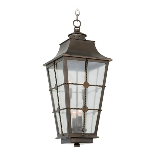 Kalco Lighting Kalco Belle Grove Aged Bronze Outdoor Hanging Light 403551AGB