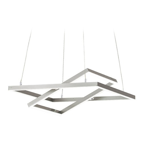 Eglo Lighting Eglo Tamasera Matte Nickel LED Pendant Light with Rectangle Shade 96814A