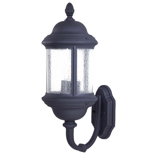 Minka Lavery Outdoor Wall Light with Clear Glass in Black Finish 9018-66