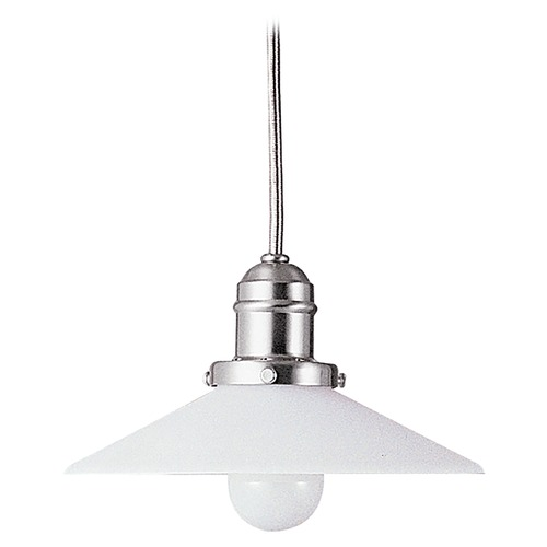 Hudson Valley Lighting Mini-Pendant Light with White Glass 3102-SN-008