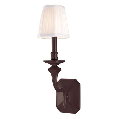 Hudson Valley Lighting Sconce Wall Light with White Shade in Old Bronze Finish 381-OB