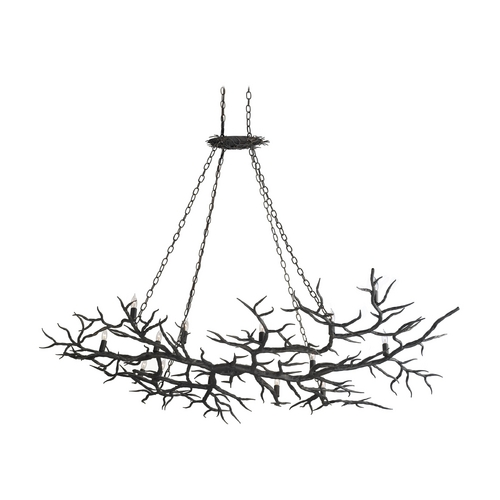 Currey and Company Lighting Chandelier in Rustic Bronze Finish 9007