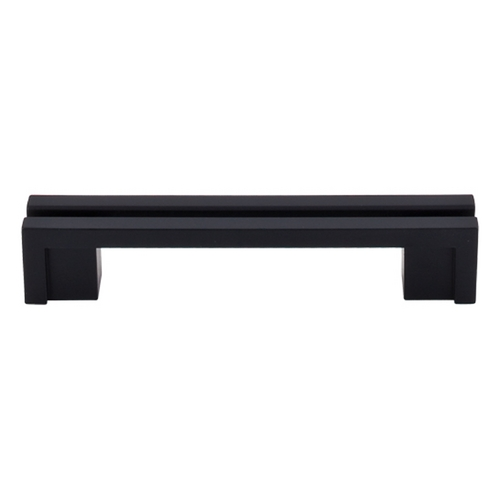 Top Knobs Hardware Modern Cabinet Pull in Flat Black Finish TK55BLK