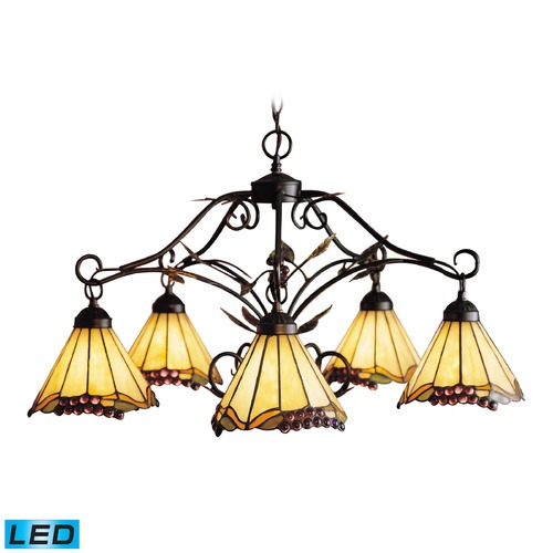 Elk Lighting Elk Lighting Grape Trellis Antique Iron LED Chandelier 035-IA-LED