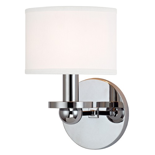 Hudson Valley Lighting Kirkwood 1 Light Sconce Drum Shade - Polished Chrome 1511-PC-WS