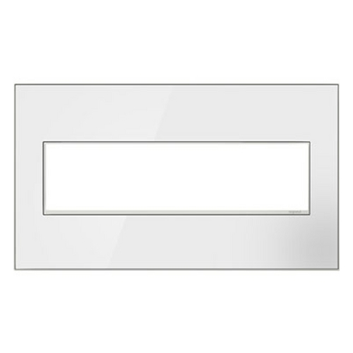 Legrand Adorne Legrand Adorne Mirror White 4-Gang Switch Plate AWM4GMW4