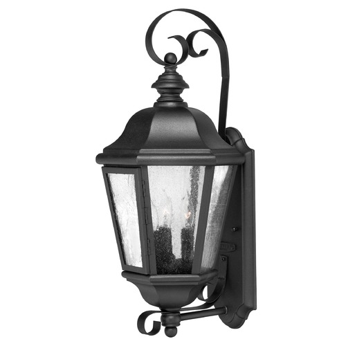 Hinkley Seeded Glass Outdoor Wall Light Black Hinkley 1670BK
