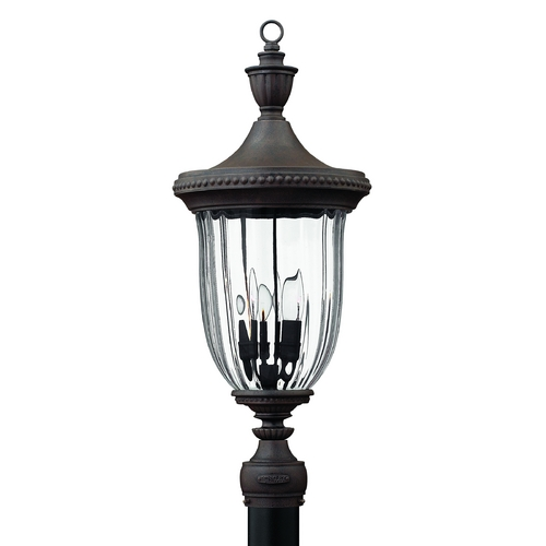 Hinkley Lighting Post Light with Clear Glass in Midnight Bronze Finish 1241MN