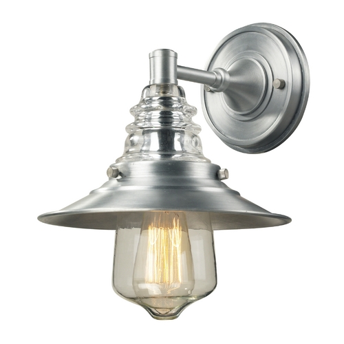 Elk Lighting Sconce Wall Light in Brushed Aluminum Finish 66700-1