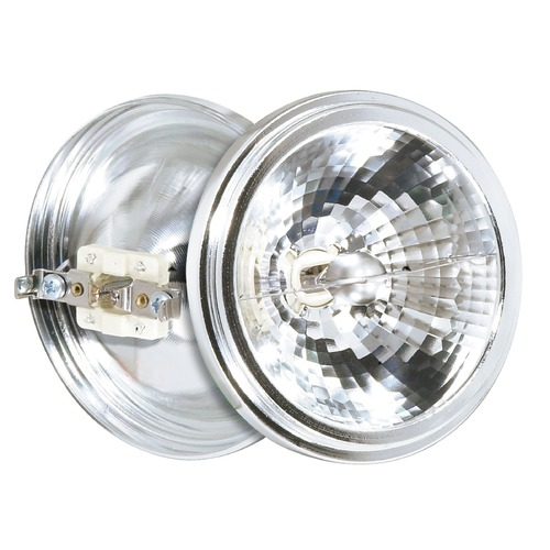 Satco Lighting Halogen AR111 Light Bulb 2 Pin Narrow Flood 25 Degree Beam Spread 2900K 12V Dimmable S4687