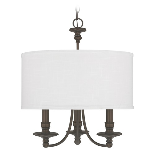 Capital Lighting Capital Lighting Midtown Burnished Bronze Pendant Light with Drum Shade 3913BB-453