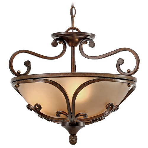 Golden Lighting Golden Lighting Loretto Russet Bronze Pendant Light 4002-SF RSB