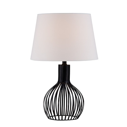 Lite Source Lighting Lite Source Earleen Ii Black Table Lamp with Empire Shade LS-22743