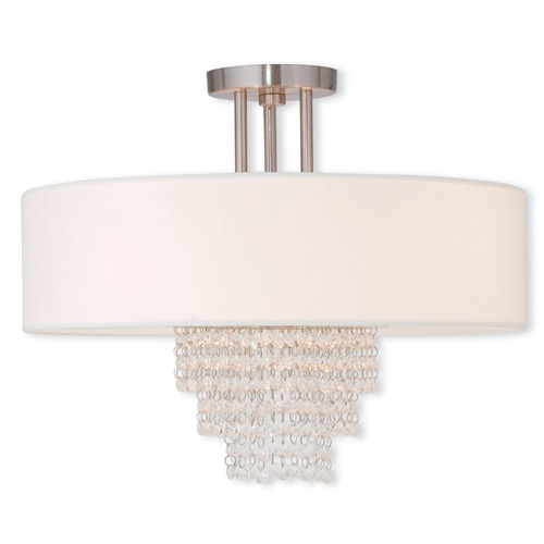 Livex Lighting Livex Lighting Carlisle Brushed Nickel Semi-Flushmount Light 51028-91