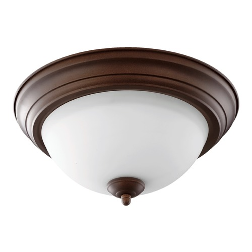 Quorum Lighting Quorum Lighting Oiled Bronze Flushmount Light 3063-13-86