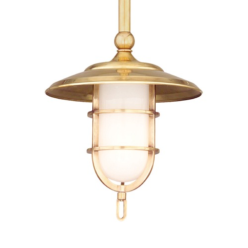 Hudson Valley Lighting Hudson Valley Lighting Rockford Aged Brass Mini-Pendant Light 2921-AGB