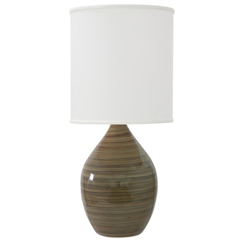 House of Troy Lighting House Of Troy Scatchard Tigers Eye Table Lamp with Cylindrical Shade GS401-TE