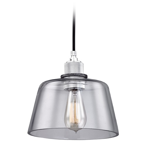 Troy Lighting Troy Lighting Audiophile Old Silver / Aluminum Mini-Pendant Light with Empire Shade F6152