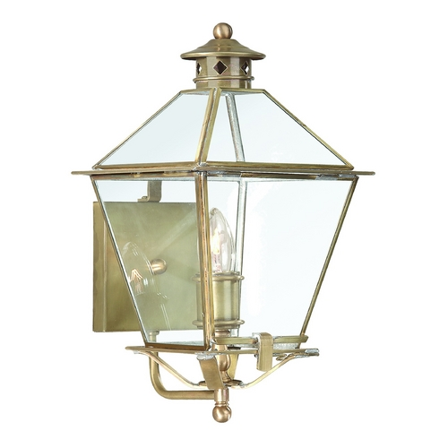 Troy Lighting Outdoor Wall Light with Clear Glass in Natural Rust Finish B8951NR
