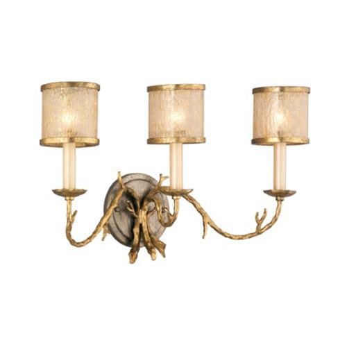 Corbett Lighting Corbett Lighting Parc Royale Gold and Silver Leaf Bathroom Light 66-63