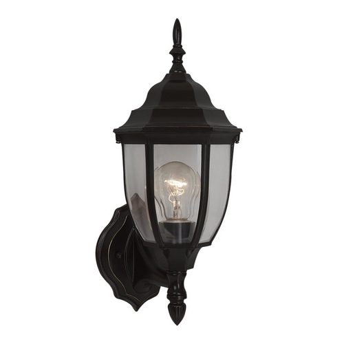 Sea Gull Lighting Outdoor Wall Light with Clear Glass in Heirloom Bronze Finish 88940-782