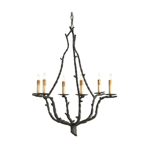 Currey and Company Lighting Currey & Co Chandelier in Rustic Bronze Finish 9006