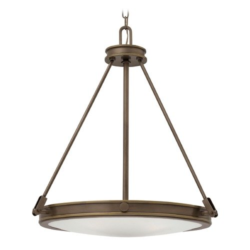 Hinkley Industrial Light Oiled Bronze Pendant Light by Hinkley 3384LZ