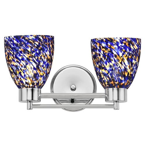 Design Classics Lighting Modern Bathroom Light in Chrome Finish 702-26 GL1009MB