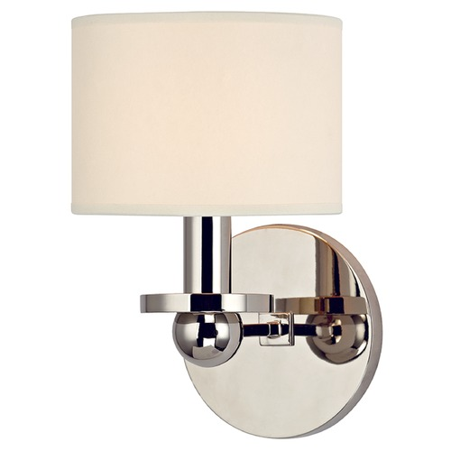 Hudson Valley Lighting Kirkwood 1 Light Sconce Drum Shade - Polished Nickel 1511-PN