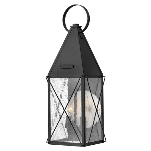 Hinkley Lighting Seeded Glass Outdoor Wall Light Black Hinkley Lighting 1844BK