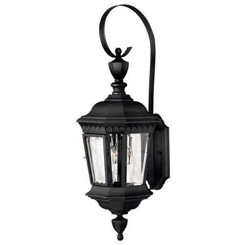 Hinkley Lighting Outdoor Wall Light with Clear Glass in Black Finish 1704BK