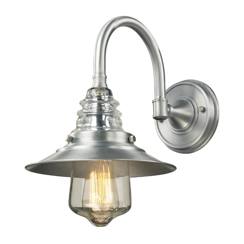 Elk Lighting Sconce Wall Light in Brushed Aluminum Finish 66702-1