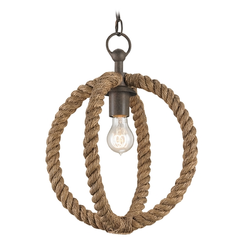 Currey and Company Lighting Currey and Company Lighting Natural / Rust Pendant Light 9489