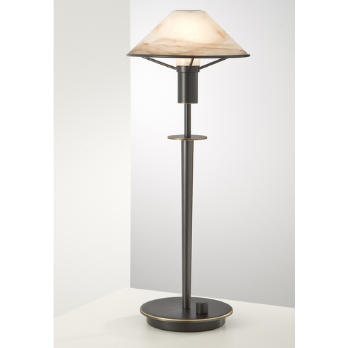 Holtkoetter Lighting Holtkoetter Modern Table Lamp with Alabaster Glass in Hand-Brushed Old Bronze Finish 6514 HBOB ABR