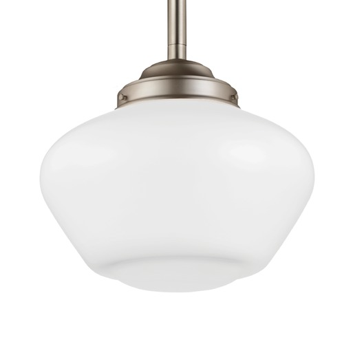Feiss Lighting Feiss Alcott Satin Nickel Pendant Light P1387SN