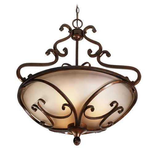 Golden Lighting Golden Lighting Loretto Russet Bronze Pendant Light 4002-3P RSB