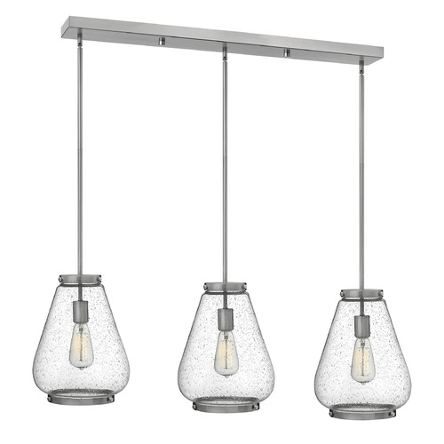 Hinkley Lighting Hinkley Lighting Finley Brushed Nickel Mini-Pendant Light with Urn Shade 3685BN